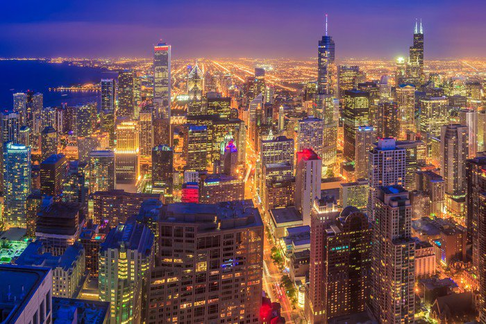 Wall Mural   Vinyl Chicago Skyline   Themes Part 42