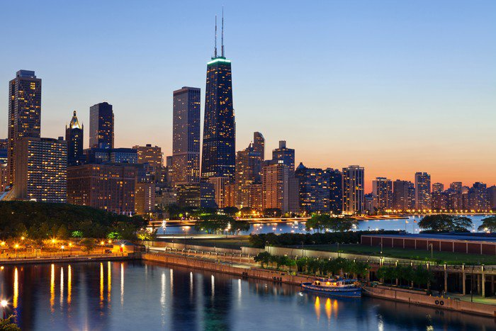 Attractive Wall Mural   Vinyl Chicago Skyline.   Themes Part 30