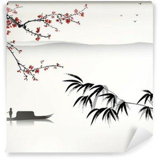 Wall Mural - Vinyl Chinese landscape painting