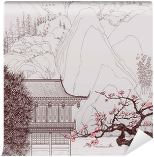 Chinese landscape Wall Mural - Vinyl