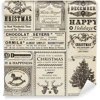 Wall Mural - Vinyl Christmas Newspaper