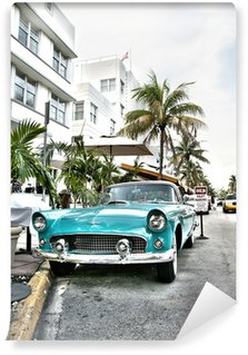 Wall Mural - Vinyl Classic american car on South Beach, Miami