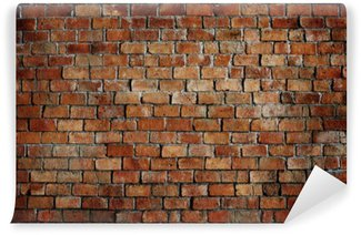 Classic Beautiful Textured Brick Wall Wall Mural - Vinyl