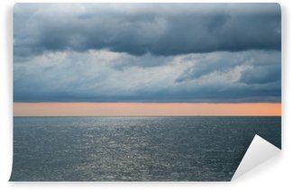Cloudy stormy dramatic sky over the sea Wall Mural - Vinyl