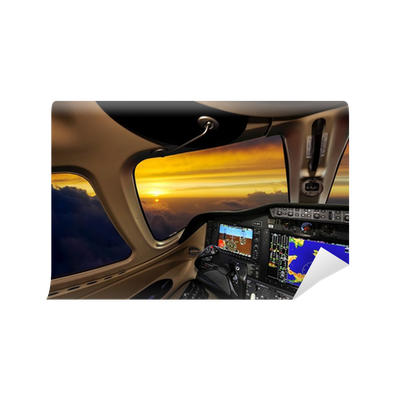 Cockpit at sunset wall mural pixers we live to change for Cockpit wall mural