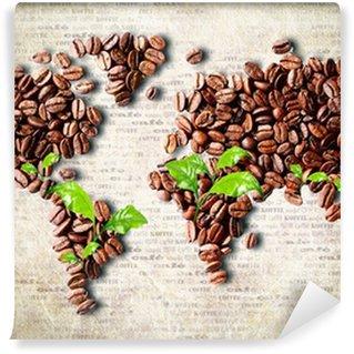 Wall Mural - Vinyl Coffee around the world