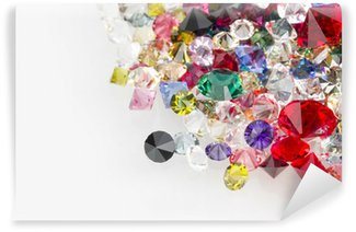 Wall Mural - Vinyl Collection of many different natural gemstones.