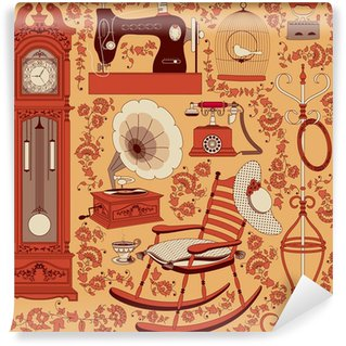 Collection of retro appliances and furniture