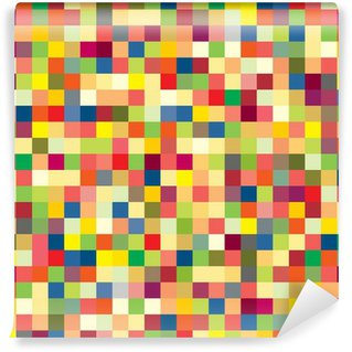 Wall Mural - Vinyl Colorful pixel pattern