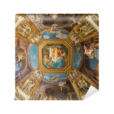 colorful scenes on vatican ceiling dome vinyl wall mural • pixers