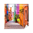 Colorful street in Burano, near Venice, Italy Wall Mural - Vinyl