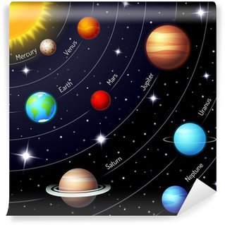 Colorful vector solar system Wall Mural - Vinyl
