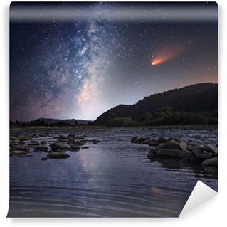 Comet over the night river