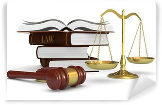 Wall Mural - Vinyl concept of law and justice
