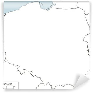 Contour map of Poland Wall Mural - Vinyl