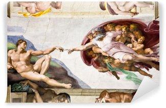 Vinyl Wall Mural Creation of Adam by Michelangelo, Sistine Chapel, Rome
