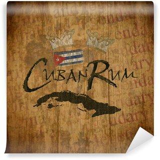 Wall Mural - Vinyl Cuban Rum Vintage Label