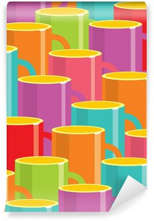 cups of coffee background design