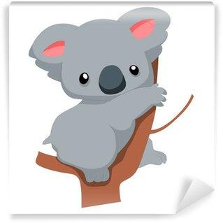 Cute baby koala cartoon Wall Mural - Vinyl