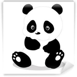 Cute baby panda cartoon Wall Mural - Vinyl