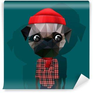 Cute fashion Hipster Animal, pet, vector Eps10 image. Wall Mural - Vinyl