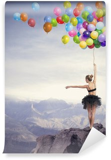 Vinyl Wall Mural Dancer with balloons