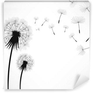 Dandelion Wind Blow Flower Wall Mural - Vinyl