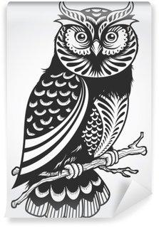 Decorative Owl Wall Mural - Vinyl