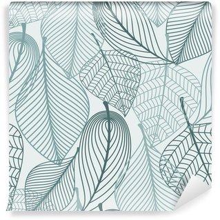 Delicate skeleton leaves seamless pattern Wall Mural - Vinyl
