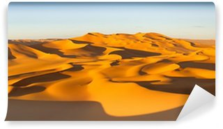 Desert Panorama - Sand Dunes - Murzuq Desert, Sahara, Libya Wall Mural - Vinyl