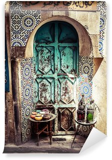 Detail of the beautiful tile mosaic decoration,Fez,Morocco Wall Mural - Vinyl