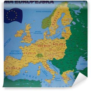Detailed map of Europe Wall Mural - Vinyl