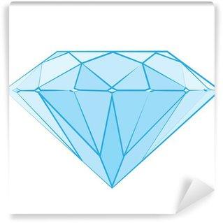 Wall Mural - Vinyl Diamond logo, luxury logotype