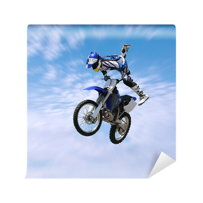 Dirt bike stunt rider wall mural pixers we live to change for Dirt bike wall mural