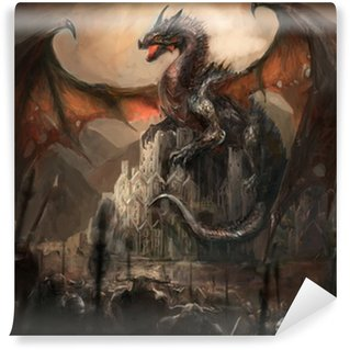 Vinyl Wall Mural Dragon castle