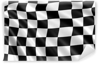 Chessboards wall murals pixers for Lino noir et blanc damier