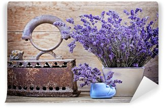 Dry lavender and rustic (rusty) iron - vintage style Wall Mural - Vinyl