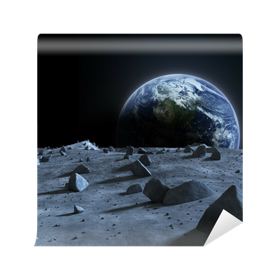 Earth seen from the moon wall mural pixers we live for Earth moon wall mural