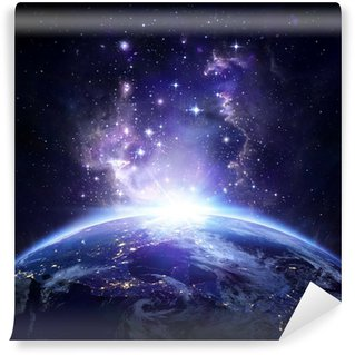 Earth view from space at night - USA Wall Mural - Vinyl