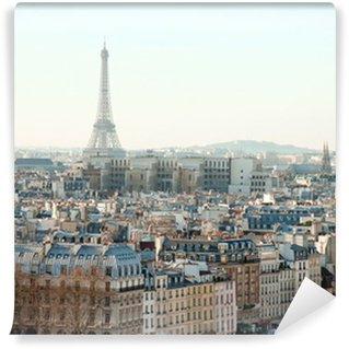 Wall Mural - Vinyl Eiffel Tower and roofs of Paris