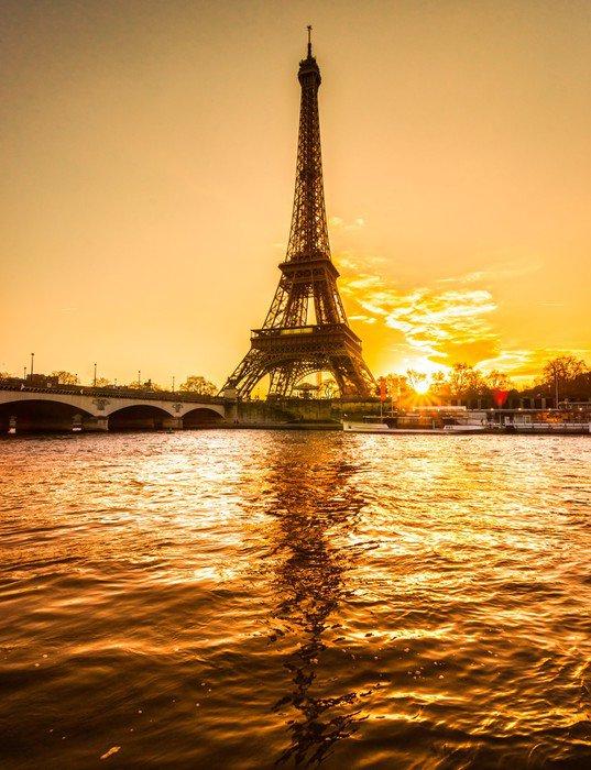 Wall Mural   Vinyl Eiffel Tower At Sunrise, Paris.   Destinations