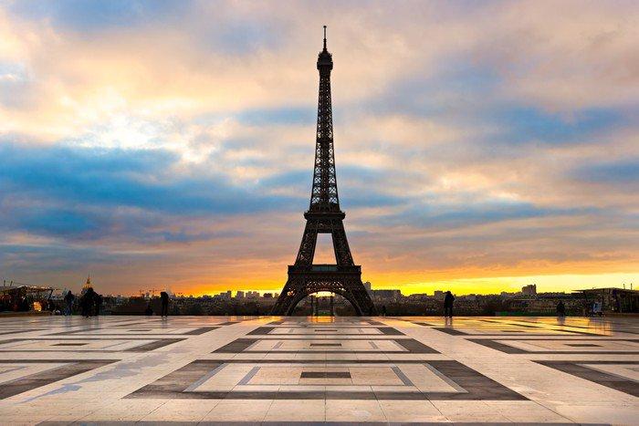 Wall Mural   Vinyl Eiffel Tower At Sunrise, Paris.   Themes