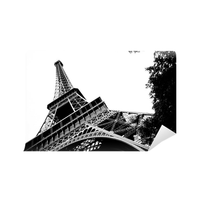 Eiffel tower black and white wall mural pixers we for Eiffel tower wall mural black and white