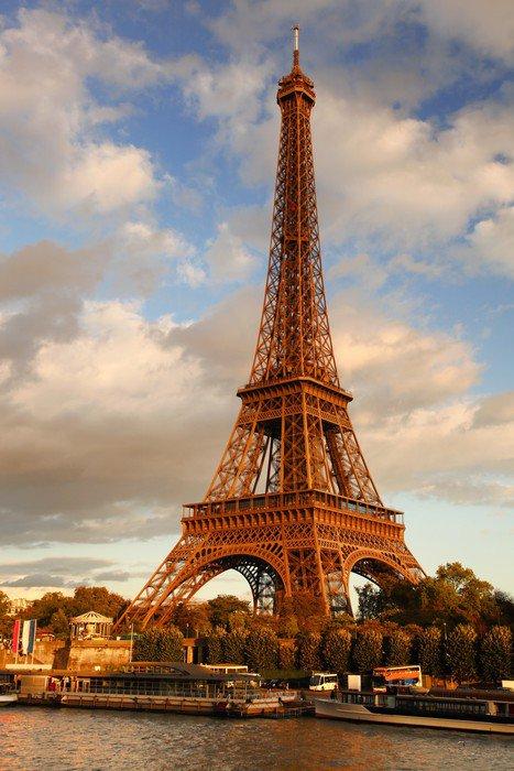Wall Mural   Vinyl Eiffel Tower In Paris, France   Themes