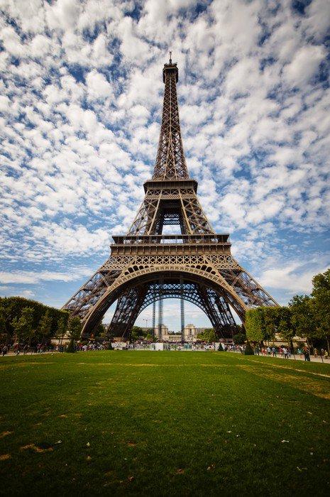 Wall Mural   Vinyl Eiffel Tower In Paris   Themes