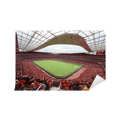 Emirates football stadium view wall mural pixers we for Emirates stadium mural