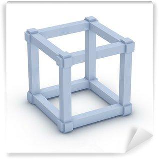 Wall Mural - Vinyl Escher Cube
