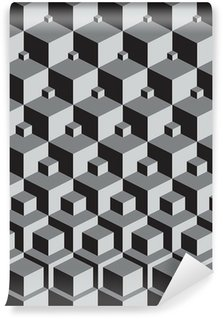 escher inspired stacking cubes art Wall Mural - Vinyl