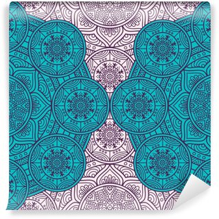 Vinyl Wall Mural Ethnic floral seamless pattern