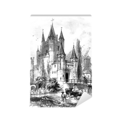 Fairy castle wall mural pixers we live to change for Fairy castle mural
